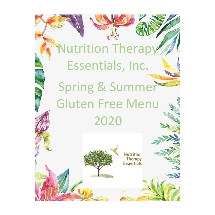 spring and summer gluten free menu cover